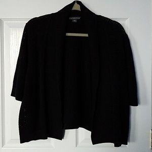 Black Open Cardigan